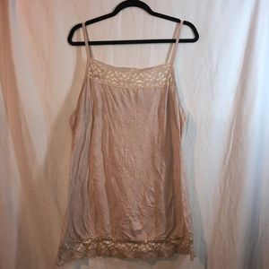 Maurice's pink lace tank top